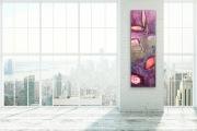 BLATTWERK  40 x 120 cm  Acryl Collage Mischtechnik Enkaustik