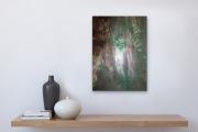 WILDWASSER  50 x 70 cm Acryl Collage Mischtechnik
