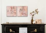 GUTER GEIST I  &  II  je 40 x 40 cm  Acryl Collage Mischtechnik Enkaustik/Wachs